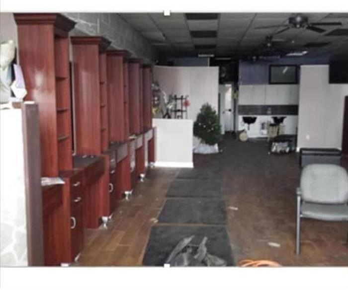 a beauty salon before SERVPRO deep cleaned